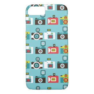 Fun Colorful Retro Lomo Cameras Pattern (Blue) iPhone 7 Case