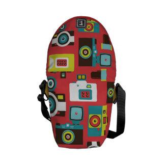 Fun Colorful Retro Lomo Cameras Pattern Messenger Bag