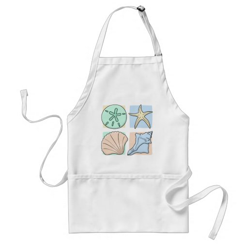 Fun Colorful Shells Adult Apron