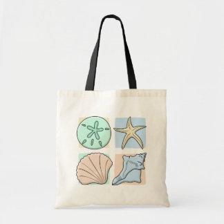 Fun Colorful Shells Budget Tote Bag