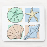 Fun Colorful Shells Mouse Pad
