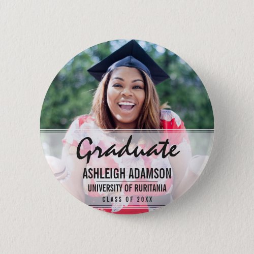 Fun Colorful Silhouettes  Graduation Party Button