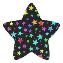 Fun, Colorful Stars Pattern Sticker