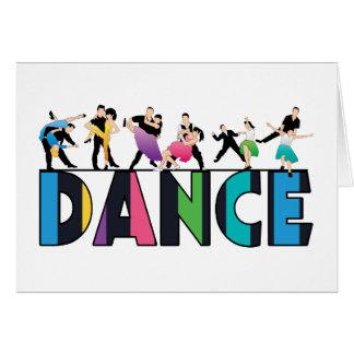 Fun & Colorful Striped Dancers Dance Card