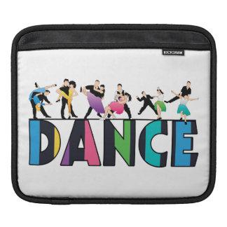 Fun & Colorful Striped Dancers Dance iPad Sleeve