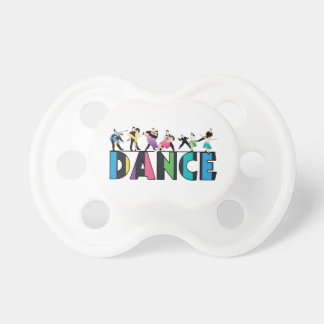 Fun & Colorful Striped Dancers Dance Pacifier