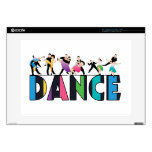 """Fun & Colorful Striped Dancers Dance Decal For 15"""" Laptop"""