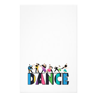 Fun & Colorful Striped Dancers Dance Stationery