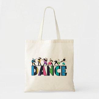 Fun & Colorful Striped Dancers Dance Tote Bag
