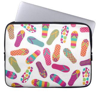 Fun Colorful Summer Flip Flops Pattern Computer Sleeves