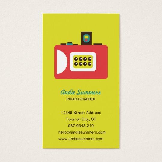 Fun Colorful Super S Camera Photographer Business Card
