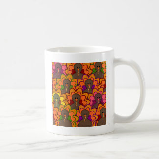 Fun Colorful Thanksgiving Turkeys Coffee Mug