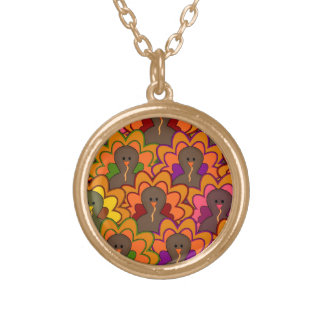 Fun Colorful Thanksgiving Turkeys Necklaces