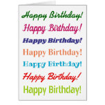 "[ Thumbnail: Fun, Colorful, Typographic ""Happy Birthday!"" Card ]"