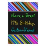 [ Thumbnail: Fun, Colorful, Whimsical 17th Birthday Card ]