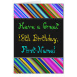 [ Thumbnail: Fun, Colorful, Whimsical 18th Birthday Card ]