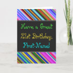 [ Thumbnail: Fun, Colorful, Whimsical 21st Birthday Card ]