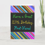 [ Thumbnail: Fun, Colorful, Whimsical 25th Birthday Card ]