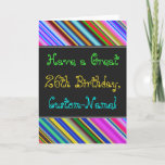 [ Thumbnail: Fun, Colorful, Whimsical 26th Birthday Card ]
