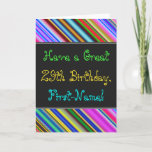 [ Thumbnail: Fun, Colorful, Whimsical 29th Birthday Card ]
