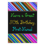 [ Thumbnail: Fun, Colorful, Whimsical 50th Birthday Card ]