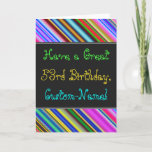 [ Thumbnail: Fun, Colorful, Whimsical 53rd Birthday Card ]