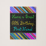 [ Thumbnail: Fun, Colorful, Whimsical 66th Birthday Puzzle ]