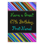 [ Thumbnail: Fun, Colorful, Whimsical 67th Birthday Card ]