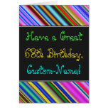 [ Thumbnail: Fun, Colorful, Whimsical 68th Birthday Card ]