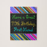 [ Thumbnail: Fun, Colorful, Whimsical 70th Birthday Puzzle ]