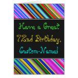 [ Thumbnail: Fun, Colorful, Whimsical 72nd Birthday Card ]