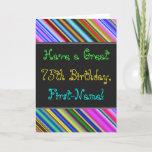 [ Thumbnail: Fun, Colorful, Whimsical 75th Birthday Card ]