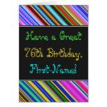 [ Thumbnail: Fun, Colorful, Whimsical 76th Birthday Card ]
