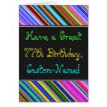 [ Thumbnail: Fun, Colorful, Whimsical 77th Birthday Card ]