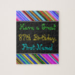 [ Thumbnail: Fun, Colorful, Whimsical 87th Birthday Puzzle ]