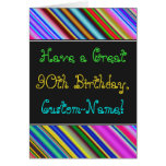 [ Thumbnail: Fun, Colorful, Whimsical 90th Birthday Card ]