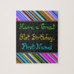 [ Thumbnail: Fun, Colorful, Whimsical 91st Birthday Puzzle ]
