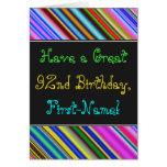 [ Thumbnail: Fun, Colorful, Whimsical 92nd Birthday Card ]
