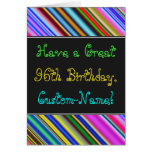 [ Thumbnail: Fun, Colorful, Whimsical 96th Birthday Card ]