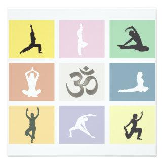 Fun Colorful Yoga Invitation