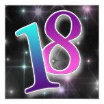 """Fun & Colourful 18th Birthday Party Invitation 5.25"""" Square Invitation Card"""