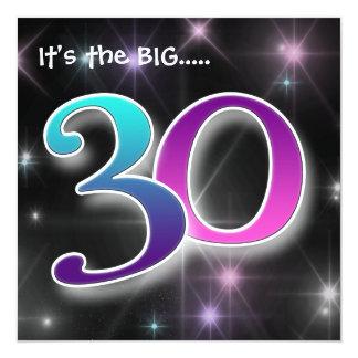 Fun & Colourful 30th Birthday Party Invitation