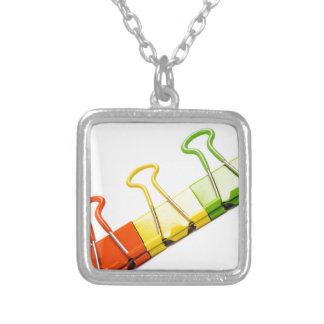 fun colourful clips necklaces
