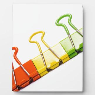 fun colourful clips plaque