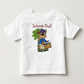 Fun Comic Bear Schools Out Toddler T-Shirt