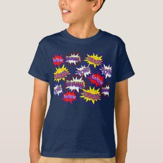 Fun Comic Book Speech Bubbles Pow Boom Kapow T-Shirt