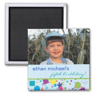 Fun Confetti Birthday Photo Magnet