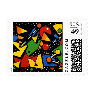 Fun Cool and Modern Patterned Christmas Postage