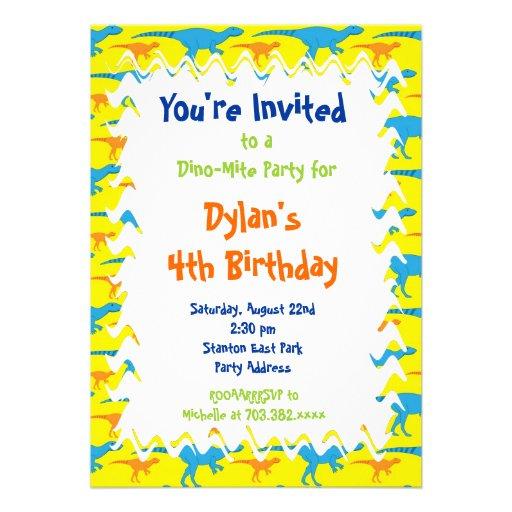 Dinosaur Birthday Party Invites was good invitations sample
