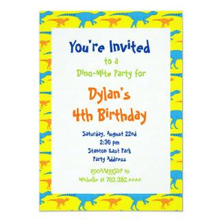 Fun Cool Dinosaur Birthday Party Invitations